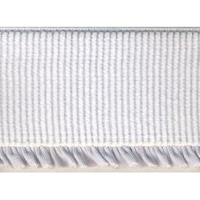 Elastique Bord Côte tout textile 60 mm Blanc x1m