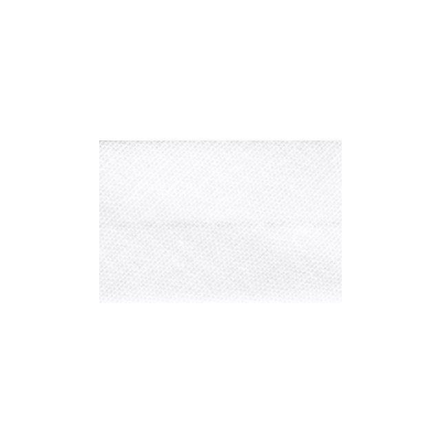 Biais replié tout textile 20 mm Blanc x1m