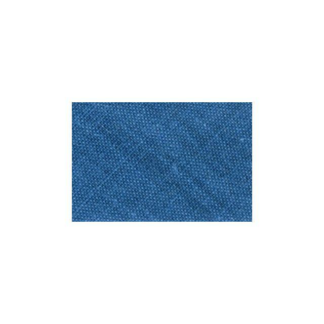 Biais replié tout textile 20 mm Bleu azur x1m
