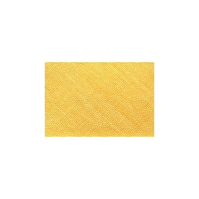 Biais replié tout textile 20 mm Jaune orangé x1m