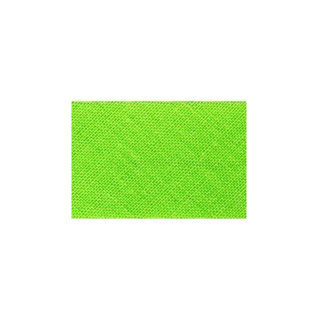 Biais replié tout textile 20 mm Vert lime x1m