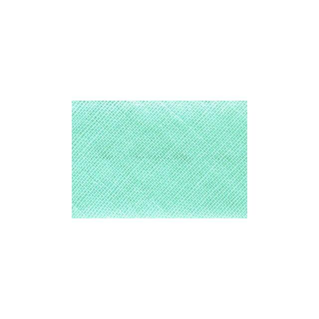 Biais replié tout textile 20 mm Vert opaline x1m
