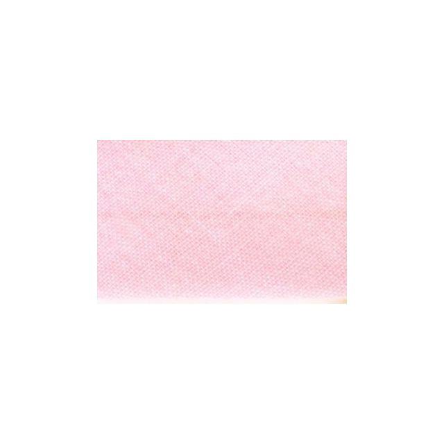 Biais replié tout textile 20 mm Rose clair x1m