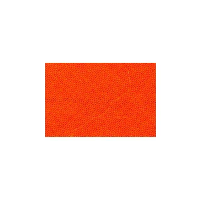 Biais replié tout textile 20 mm Orange corail x1m