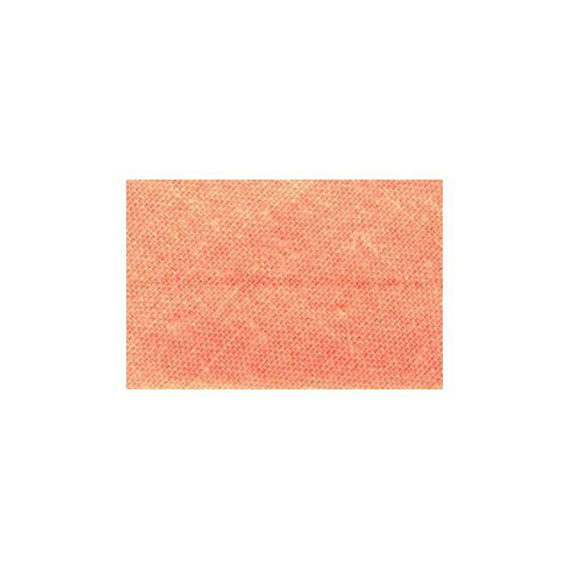 Biais replié tout textile 27 mm Saumon x1m