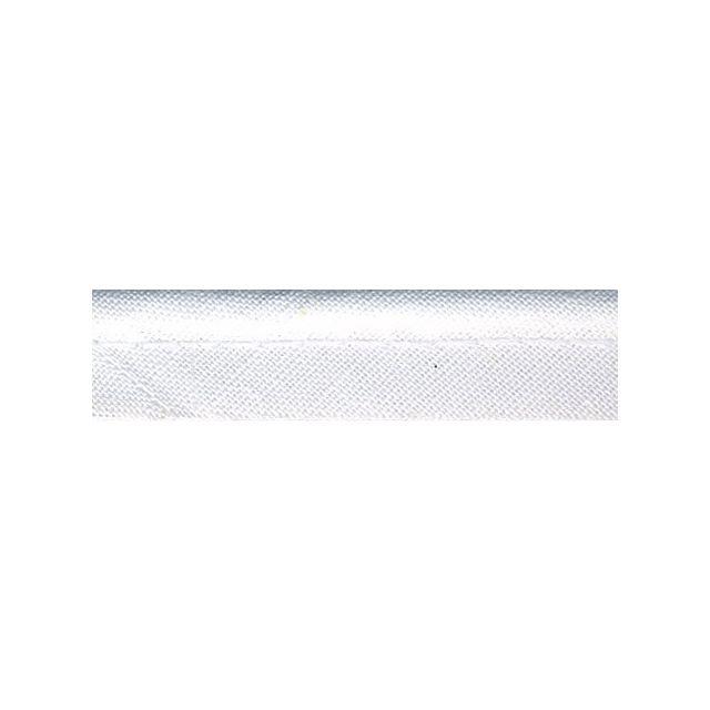 Passepoil tout textile 10 mm Blanc x1m