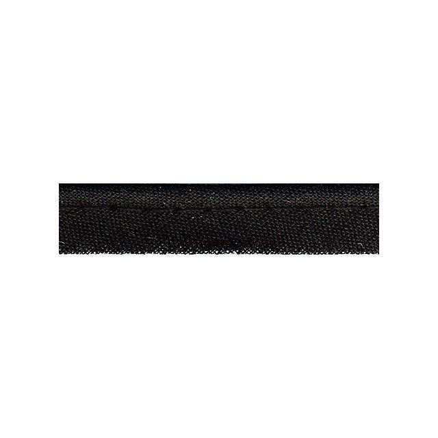 Passepoil tout textile 10 mm Noir x1m