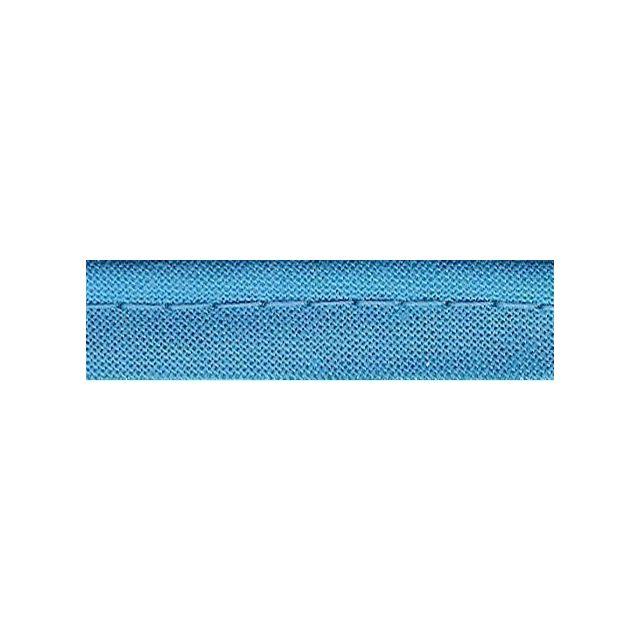 Passepoil tout textile 10 mm Bleu turquoise x1m