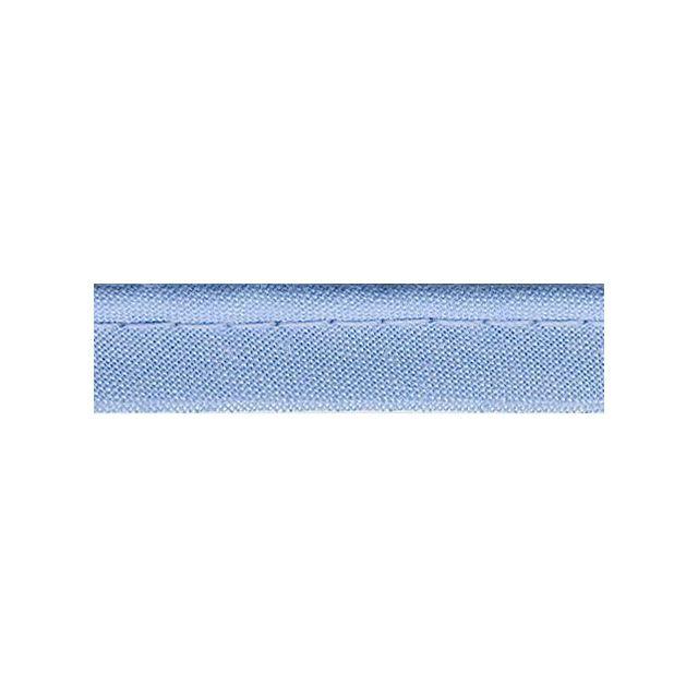 Passepoil tout textile 10 mm Bleu ciel x1m