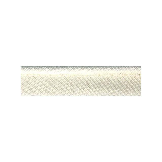 Passepoil tout textile 10 mm Ecru x1m
