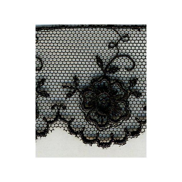 Dentelle Valencienne 35 mm Noir x1m