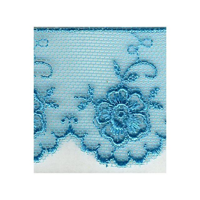 Dentelle Valencienne 35 mm Bleu clair x1m