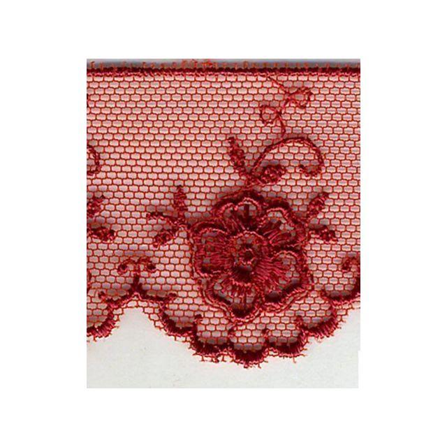 Dentelle Valencienne 35 mm Rouge x1m