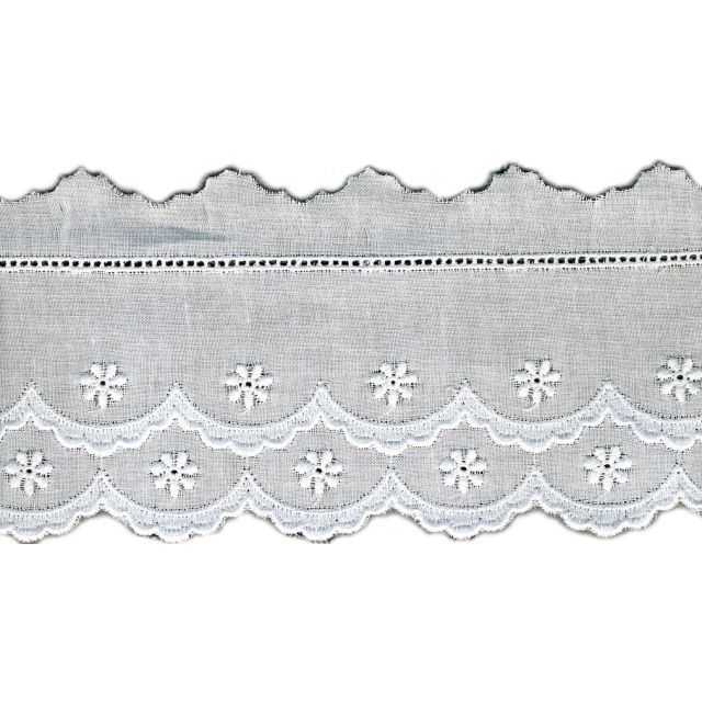 Broderie Anglaise 65 mm Blanc x1m