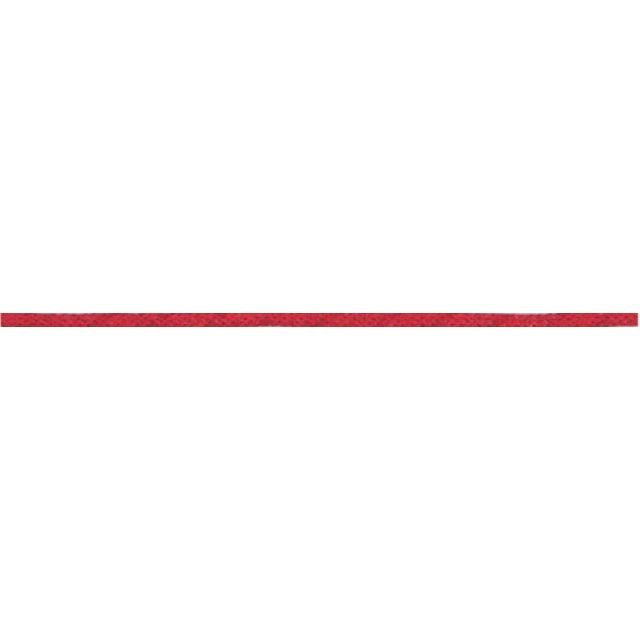 Cordon aspect cuir 2 mm Rouge alizarine x1m