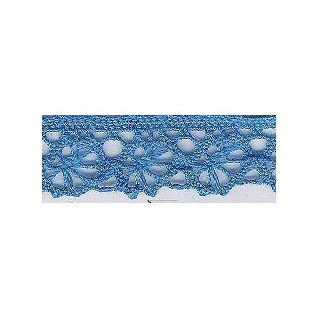 Dentelle Polyester 15 mm Bleu x1m