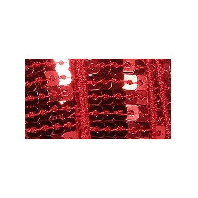 Galon Paillettes 22 mm Rouge Paillettes x1m