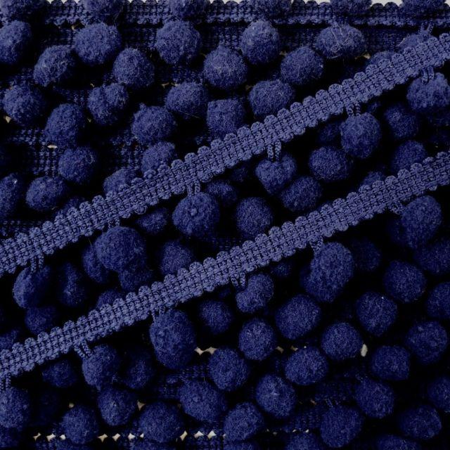 Galon Petit pompon Bleu marine - Au mètre