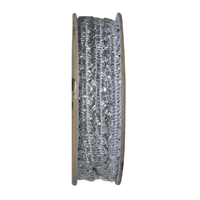 Ruban lurex Argent - bobinette 2m