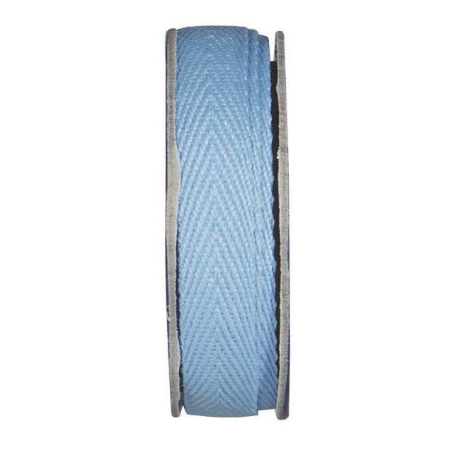 Ruban sergé Bleu ciel - bobinette 2m