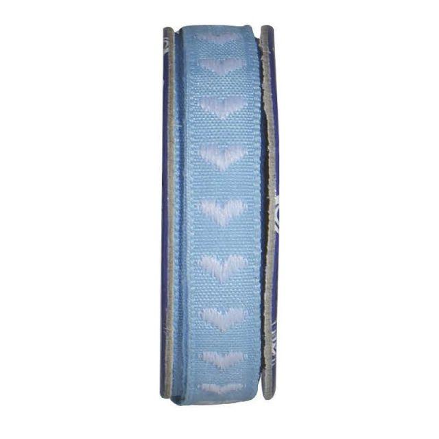 Ruban coeur  Bleu ciel - bobinette 2m