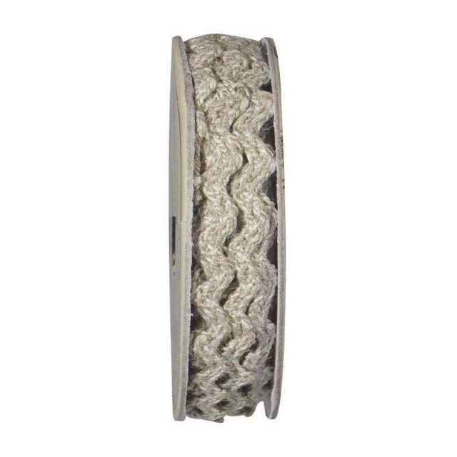 Serpentine tressé Beige et blanc - bobinette 2m
