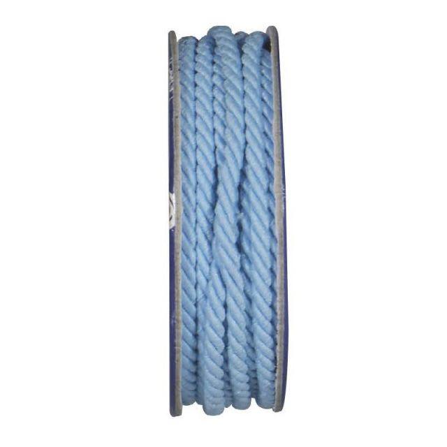 Cordon torsadé Bleu ciel - bobinette 2m