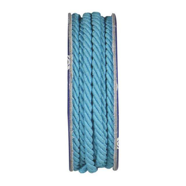 Cordon torsadé Bleu turquoise - bobinette 2m