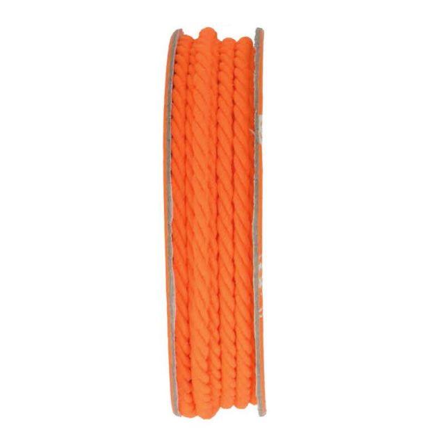 Cordon torsadé Orange - bobinette 2m