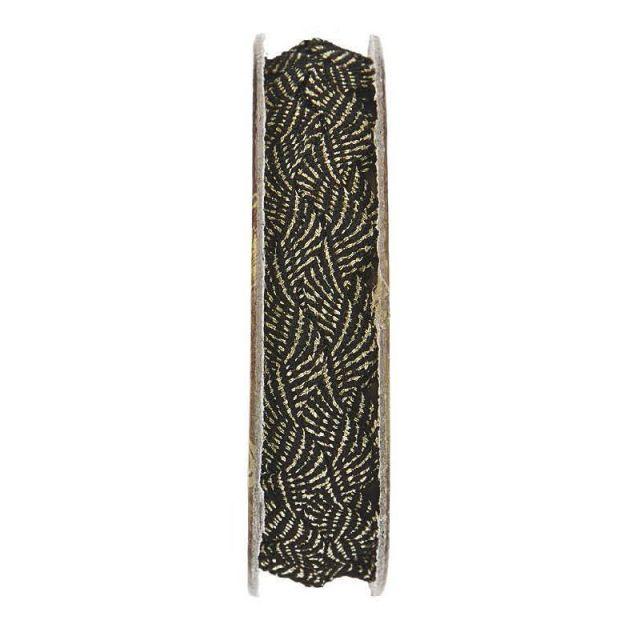 Serpentine Noir et or - bobinette 2m