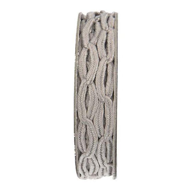 Cordon forme chaine Gris clair - bobinette 2m