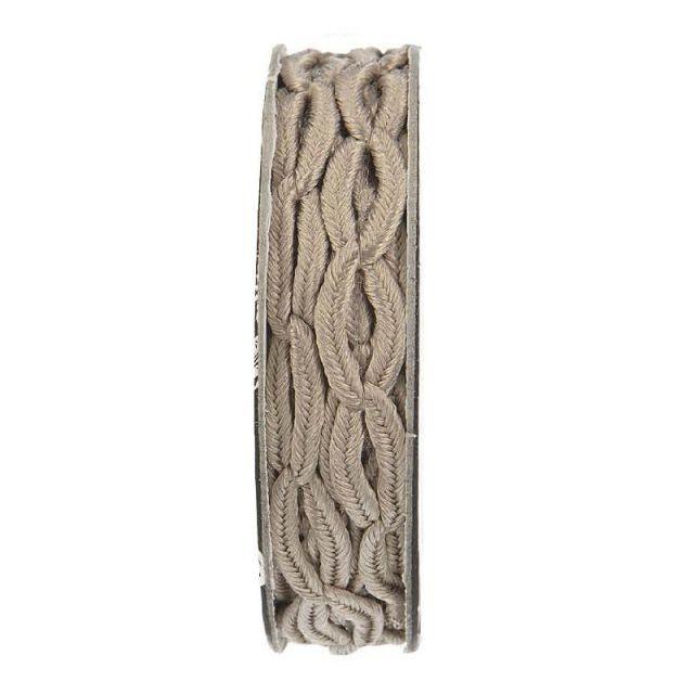 Cordon forme chaine Taupe - bobinette 2m