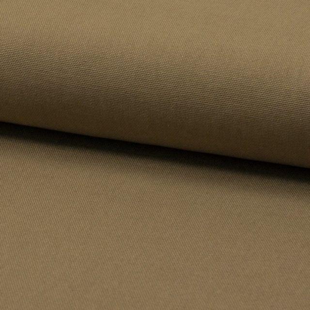 Tissu Coton Sergé d'ameublement uni Ecorce - Par 10 cm