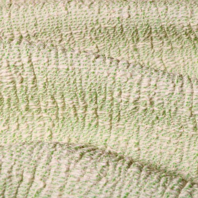 Tissu Gianni Maille Stretch Lurex Vert - Par 10 cm