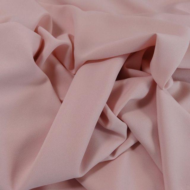Tissu Crêpe Georgette Rose clair x10cm