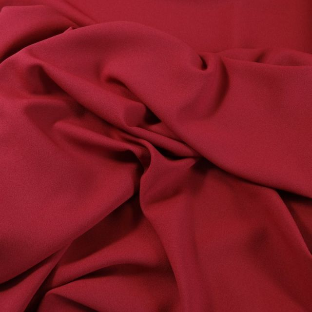 Tissu Crêpe Georgette Rouge foncé x10cm