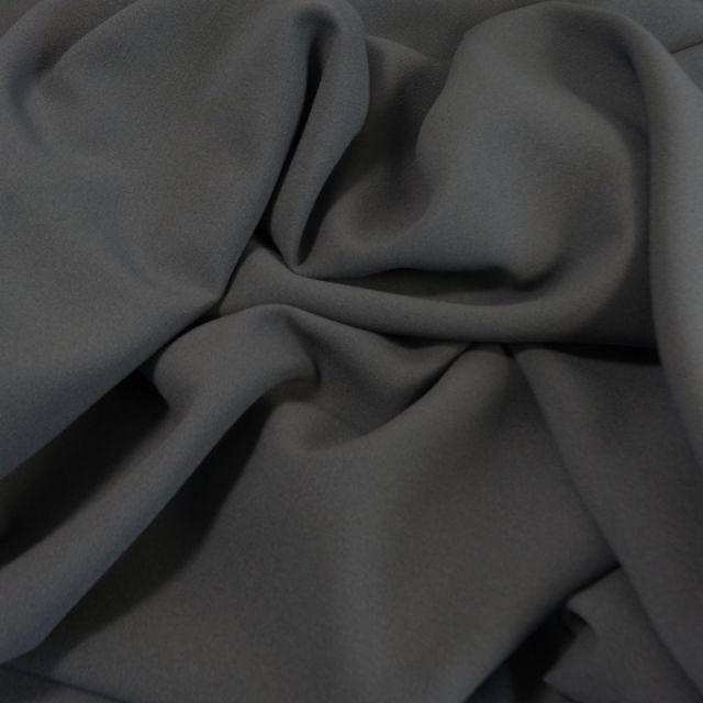 Tissu Crêpe Georgette Gris x10cm