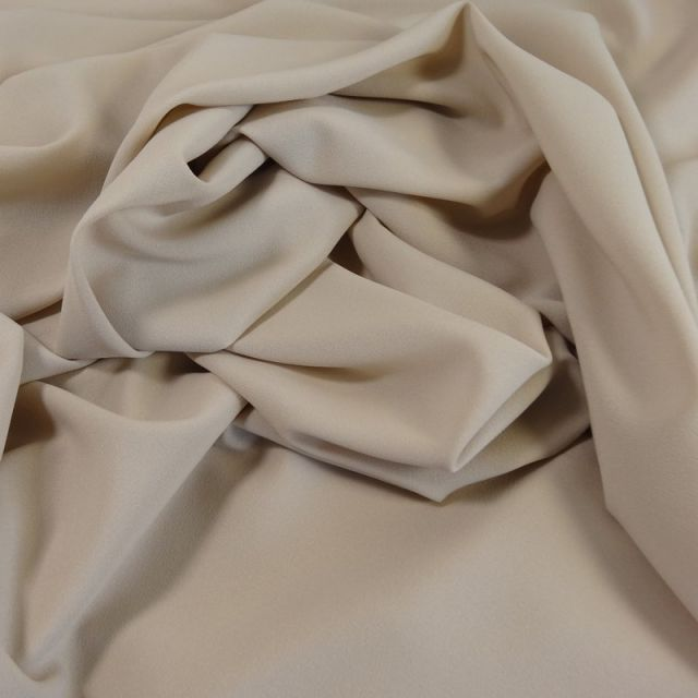 Tissu Crêpe Georgette Beige sable x10cm