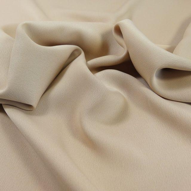Tissu Crêpe satin mat Beige x10cm