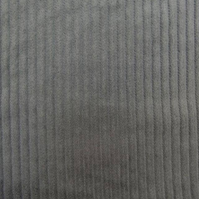 Tissu Velours Grosses côtes Gris x10cm