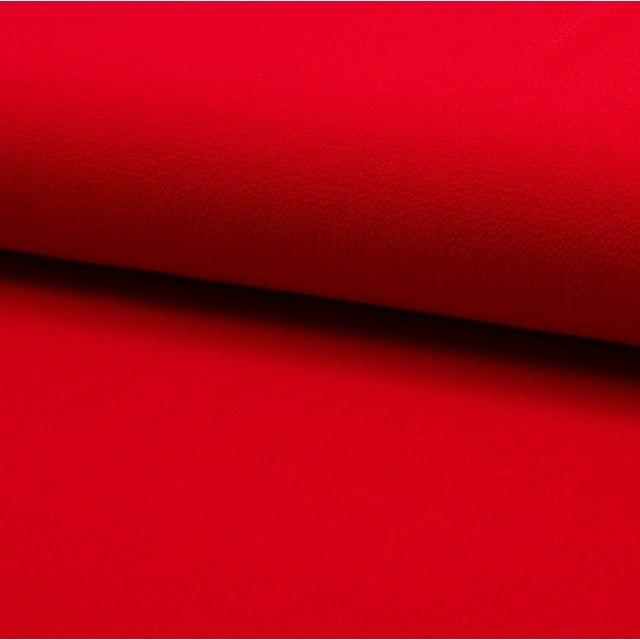 Tissu Crêpe stretch Rouge - Par 10 cm