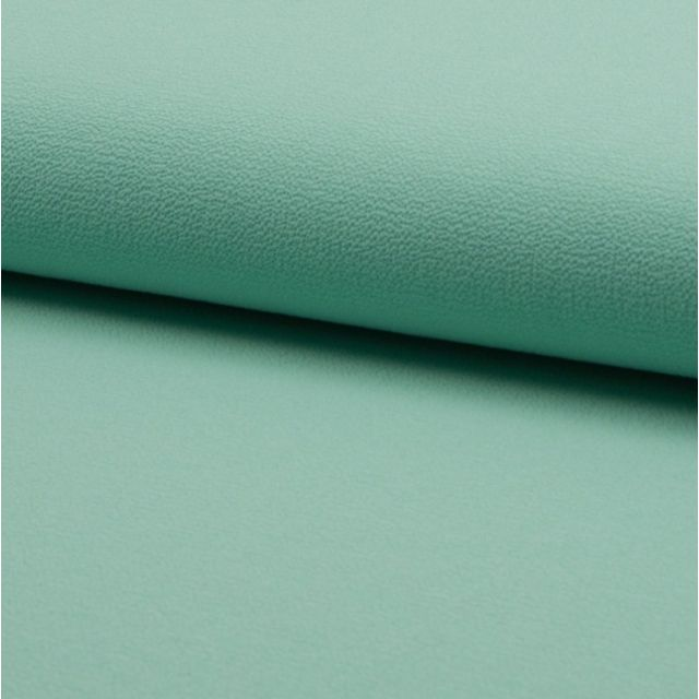 Tissu Crêpe stretch Vert menthe - Par 10 cm
