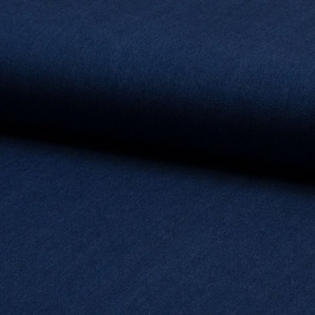 Tissu Chambray Ultra Léger Coton Bleu jean foncé - Par 10 cm