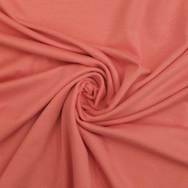 Tissu Jersey Viscose uni Rose bonne mine x10cm