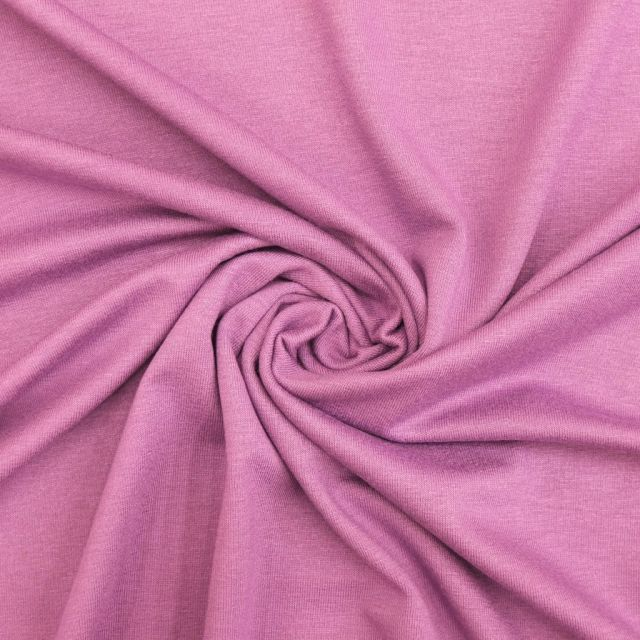 Tissu Jersey Viscose uni Pourpre x10cm