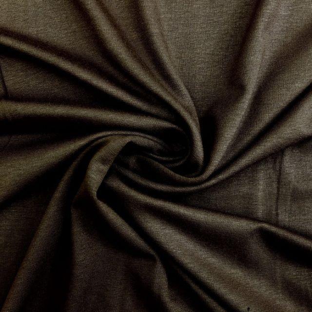 Tissu Jersey Viscose uni Marron foncé x10cm