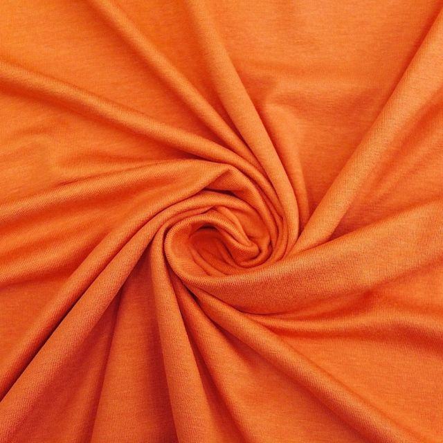Tissu Jersey Viscose uni Mandarine x10cm