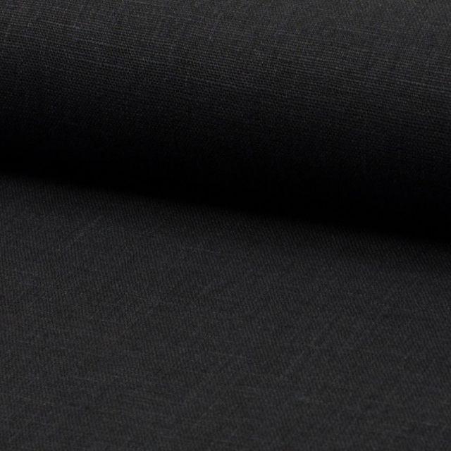Tissu Lin Noir x10cm