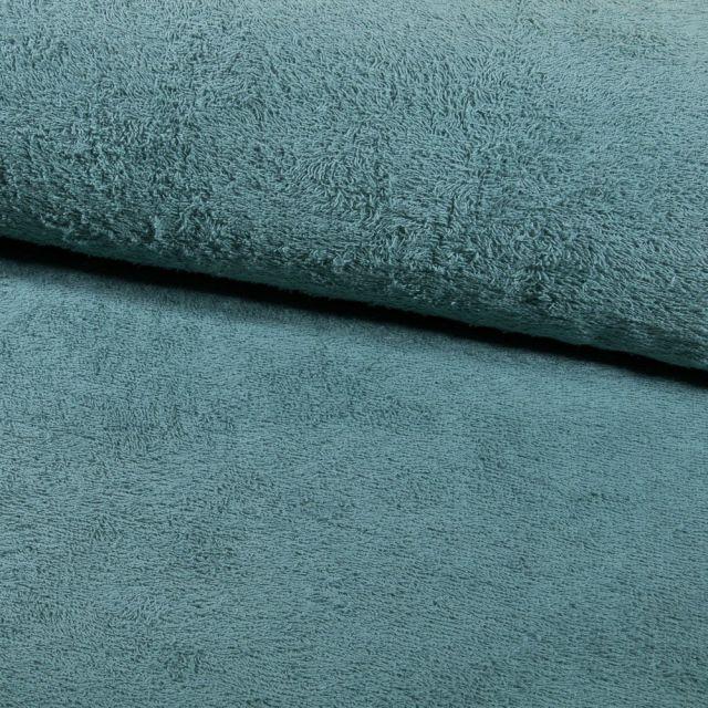 Tissu Eponge légère 320 g/m² Vert d'eau- Par 10 cm