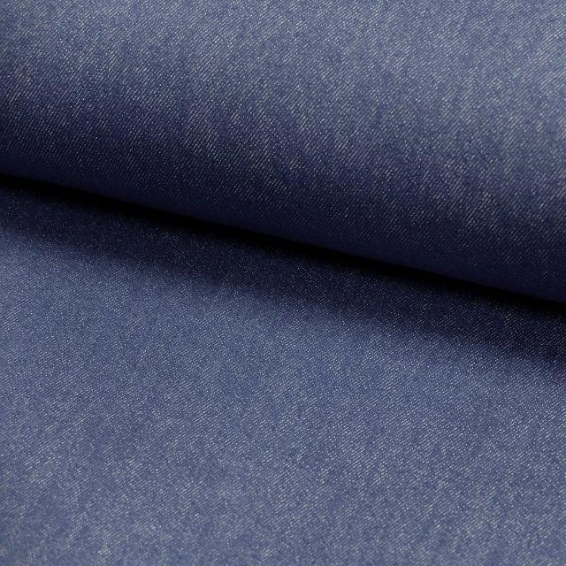 Tissu Denim Jeans Bleu pétrole x10cm